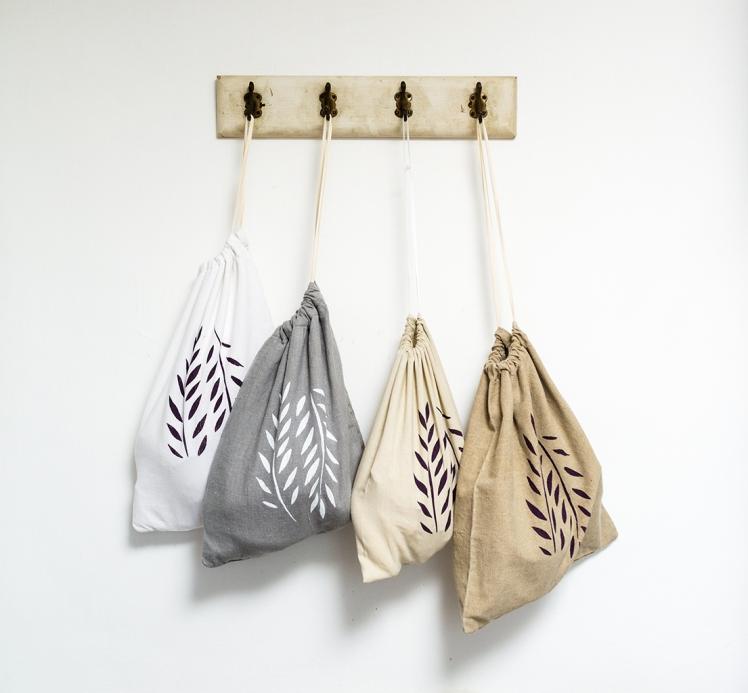 textiltáska, vászontáska, nyomott mintás, színes
